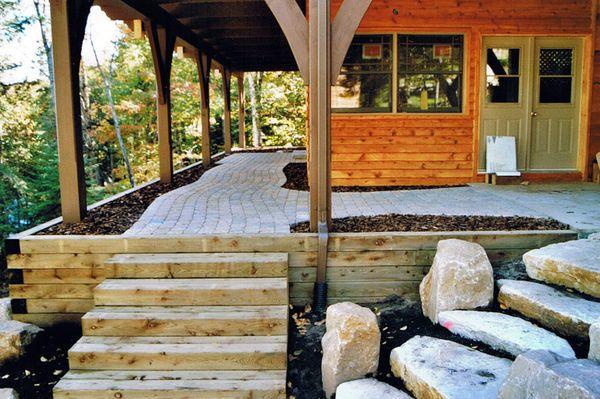 Mur De Soutenement En Bois Traite : 06 mur de soutenement en bois traite marches de pierre pave uni